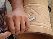 carving djembe