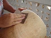 making djembe
