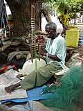 kora making in Gambia