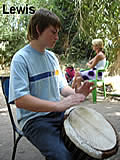 african drum group memeber, Lewis